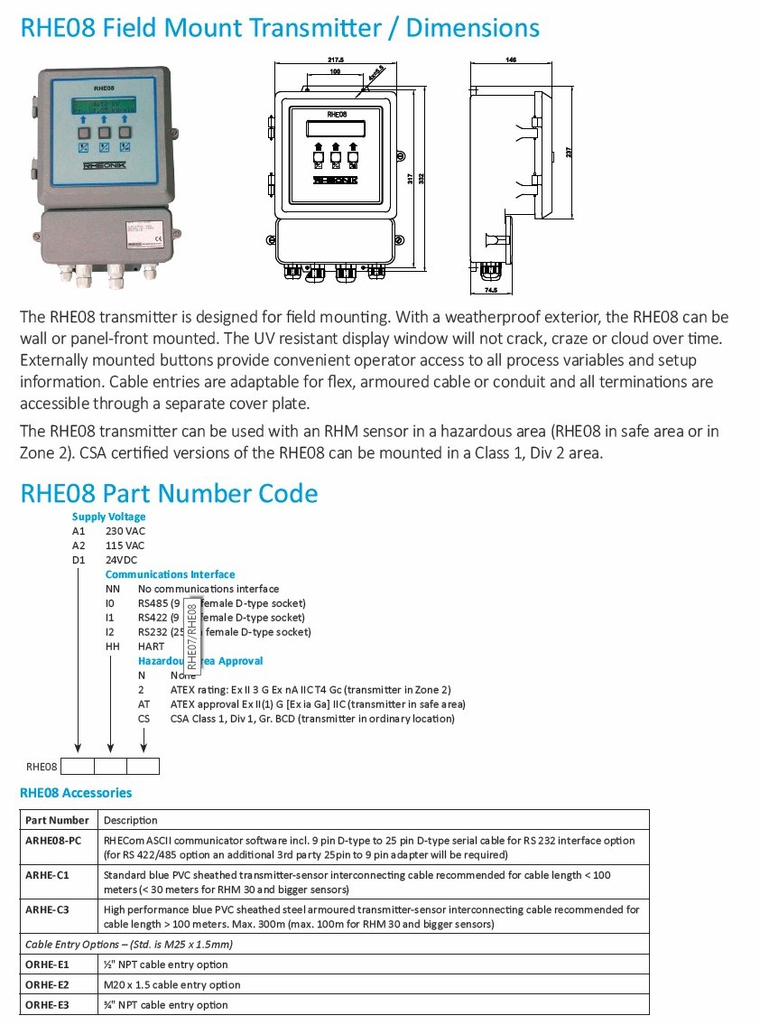 RHE07/RHE08 Multifunction Coriolis Mass Flow Transmitter Series